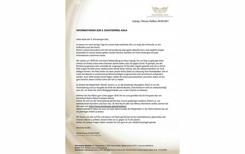 Informationen zur 9. Schutzengel-Gala